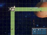 Two routes between multiple spacestations, with freighters going over them